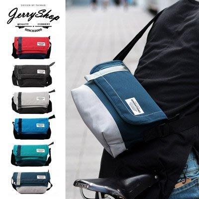側背包 JerryShop【XB06068】日系玩色小郵差包(6色) 肩背包 單車包