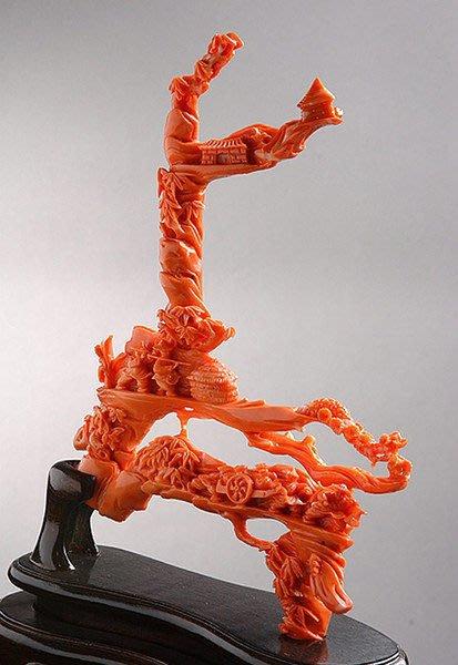 ☆采鑫天然寶石☆ 農村一景~~頂級天然珊瑚雕件~~極致刻工~藝術收藏~預約鑑賞