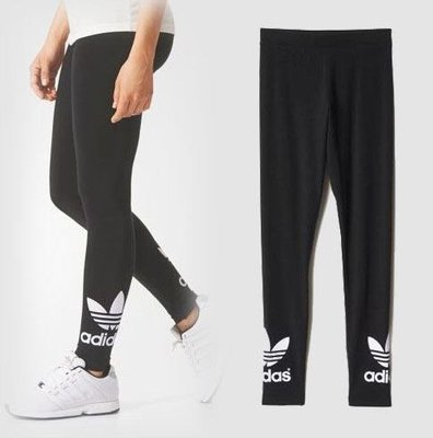 adidas 女 愛迪達 originals 內搭褲 三葉草 棉 緊身褲 AJ8153