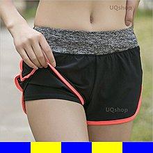短褲 女 假兩件 防走光 褲 速乾排汗馬拉松 健身韻律短褲 夜跑路跑休閒短褲 透氣 顯瘦