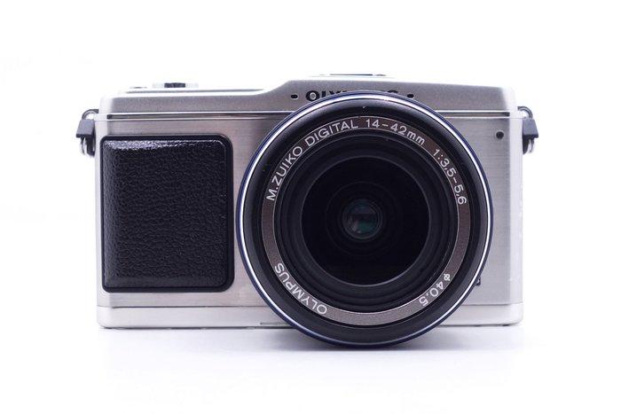 【台中青蘋果】Olympus E-P1 銀 + 14-42mm f3.5-5.6 單鏡組 二手 單眼相機 #19319