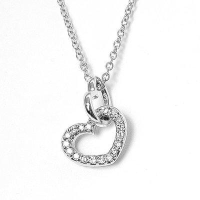 【JHT 金宏總珠寶/GIA鑽石專賣】0.11克拉天然鑽石項鍊/材質:18K金/(JB40-A37)