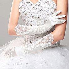 純白色婚禮手套 蕾絲手套 長版手套 文訂手套 婚紗手套 新娘禮服手套 舞蹈表演手套 敬酒服