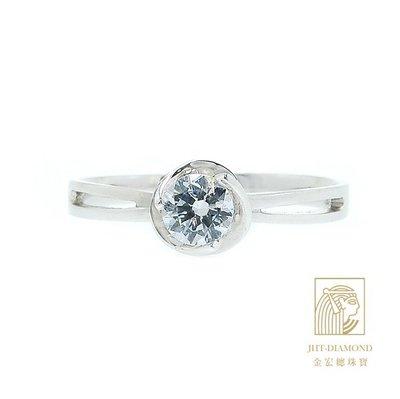 【JHT 金宏總珠寶/GIA專賣】婚戒/鑽戒 女鑽石戒台 (不含搭配主鑽)JRB016