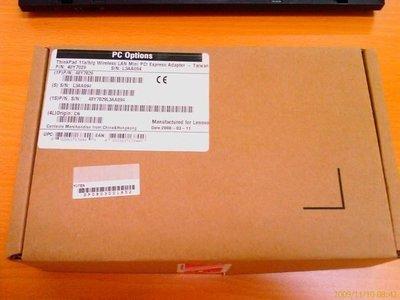 【nbpro小黑專賣店】(40Y7029)原廠 Thinkpad X60/X61/T60/R6011a/b/g 無線網卡
