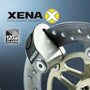 【$1888 限定☪熟客專屬】英國 XENA XZZ5L SS 警報碟剎鎖 不鏽鋼鎖120分貝 送收納袋 《紅標商品》