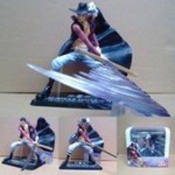 【紫色風鈴3】zero鷹眼海賊王-盒裝吸塑16cm 鷹眼米霍克戰斗形態 港版