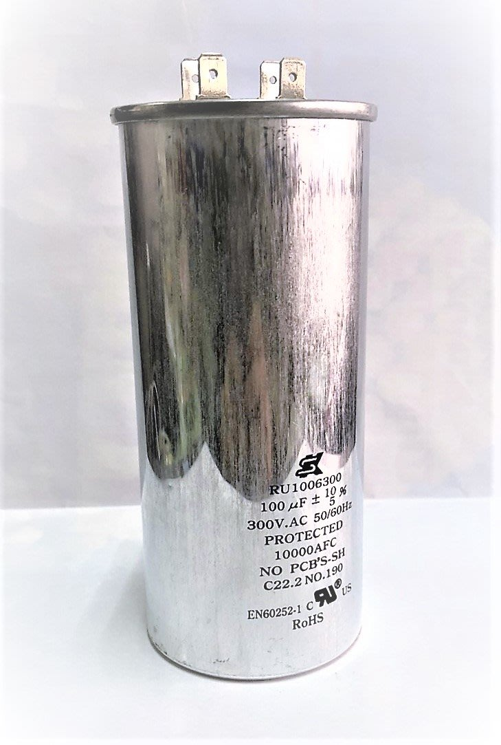 『正典UCHI電子』運轉電容 SK世佳 100uf 300V 尺寸:55*125(mm) 馬達壓縮機