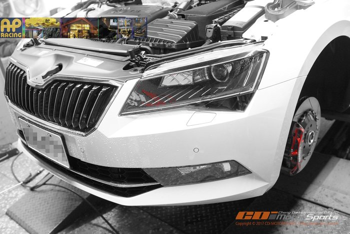 Škoda Superb Combi 專用 AP CP-9660 PRO 5000-R 競技六活塞卡鉗組 / 制動改