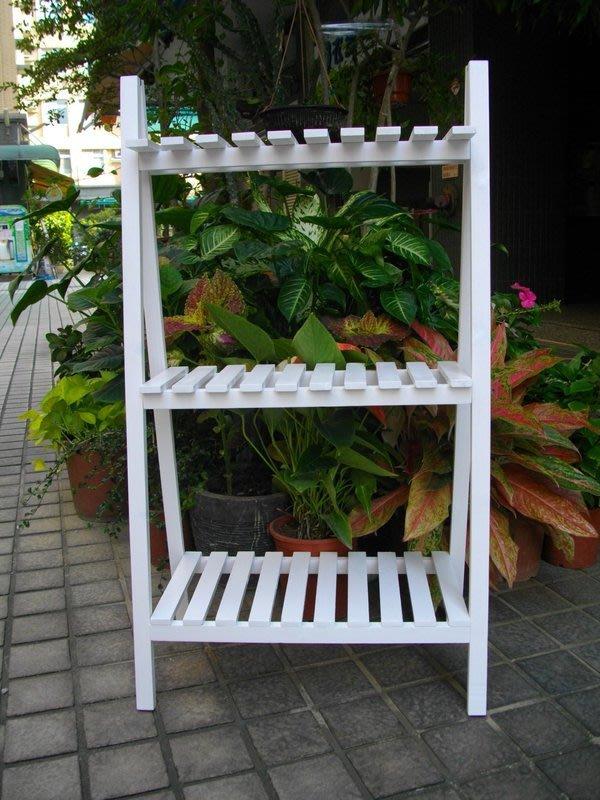 白色三層花架.置物架.木製花架.鞋架.展示架.