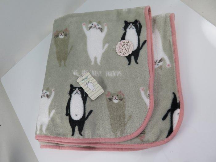 iSport 聖誕禮品 日本代購 貓咪 喵星人最愛 單人毛毯 保暖抗寒 聚酯纖維 柔棉觸感 809071