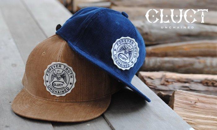 GOODFORIT / 日本CLUCT CORDUROY CAP氈毛貼布硫化染燈芯絨帽款