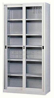 ♤名誠傢俱辦公設備冷凍空調餐飲設備♤ 3×6連座玻璃 鐵櫃 書櫃 置物櫃尺寸88×40×1