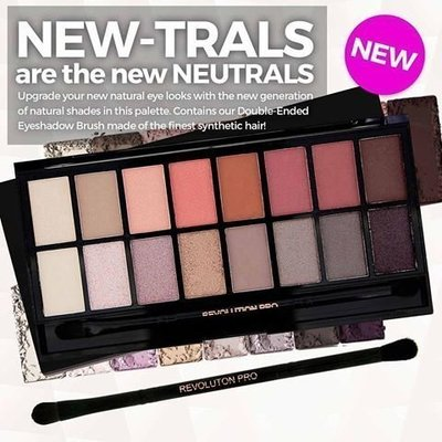 【愛來客】 Makeup Revolution New-trals vs Neutrals Palette 16色眼影盤