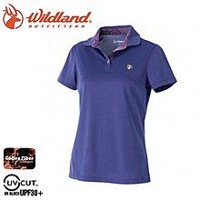丹大戶外【Wildland】荒野 女咖啡紗YOKE抗菌抗UV上衣 0A51613-53 紫