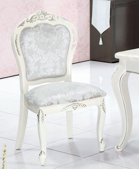 【DH】商品編號A729-3商品名稱皇家白色餐椅/餐桌另計。端莊高雅設計。主要地區免運費