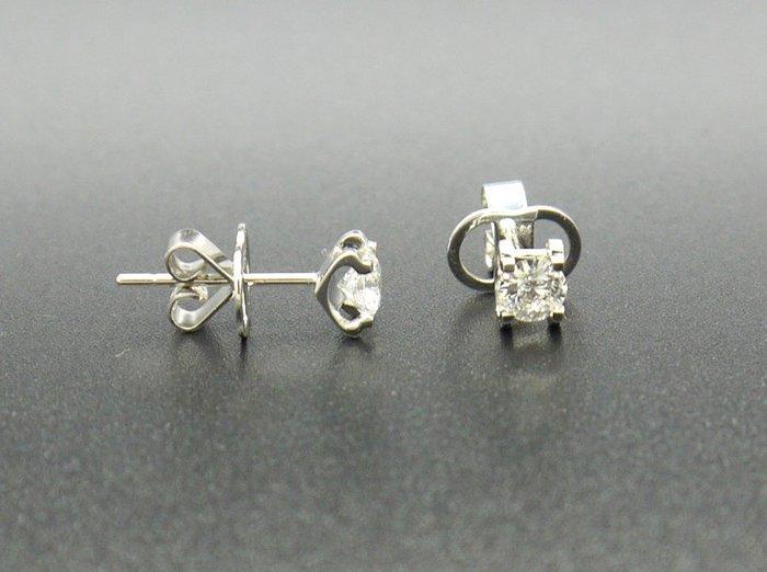 鑽石耳環 耳針 天然鑽石 圓鑽64分 H VS1 八心八箭 附保證書【大千珠寶】