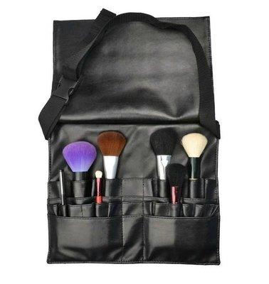 【愛來客 】MAKE UP FOR YOU 黑色專業化妝刷腰包21個插孔  新秘 /彩妝師必備工具腰包