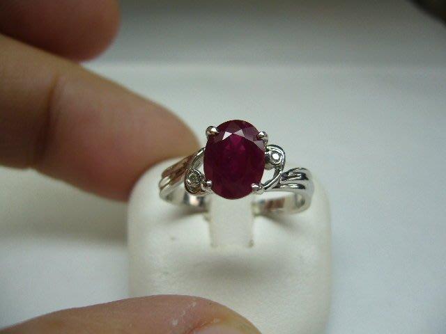 [吉宏精品交流中心]2.0克拉 天然紅寶石 天然鑽石 白K金 造型 戒指(附證書)
