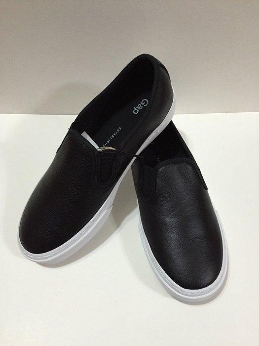 GAP 休閒 鞋 懶 人 鞋 真 皮革 黑色 女生 US 6-8 現貨 舒適