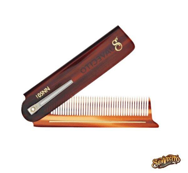 GOODFORIT / 加州Suavecito Deluxe Amber Folding Comb琥珀板料口袋折梳