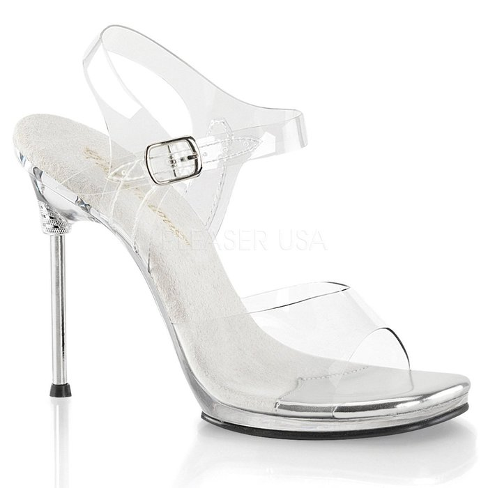 Shoes InStyle《四吋》美國品牌 FABULICIOUS 原廠正品金屬高跟涼鞋 有大尺碼『銀白色』