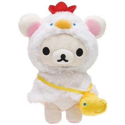 【唯愛日本】 16122400002 2017雞年限定公仔娃-奶熊 SAN-X 懶懶熊 拉拉熊 娃娃 玩偶 收藏 新年款
