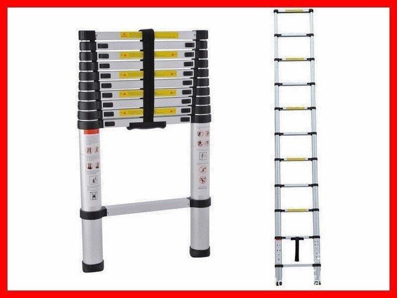 【鴻發】加厚鋁合金1.4米~5.2米直梯伸縮梯鋁梯一字梯家用梯竹節梯樓梯梯子抽拉梯園藝用品7336HF39