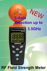 TECPEL 泰菱 》TM-195 50MHz-3.5GHz  高頻 三軸 電磁波 高斯表 微波爐 基地台 RF 無線網路