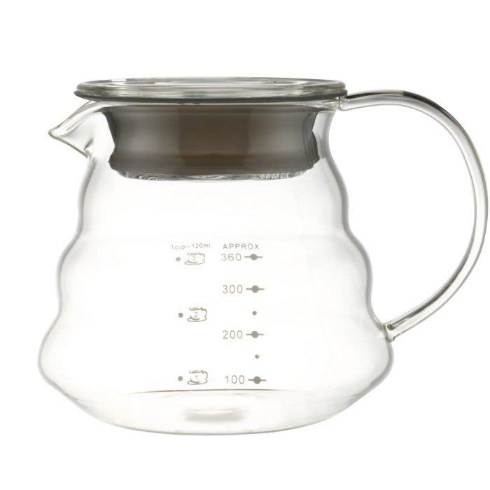 龐老爹咖啡 一屋窯 同HARIO XGS-36TB 雲朵壺 耐熱 玻璃分享壺 可微波 360CC 360ML 1~3人份