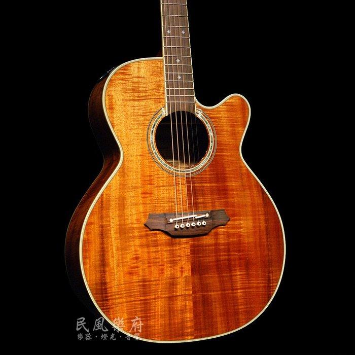 《民風樂府》Takamine EF-508KC 日廠 全KOA夏威夷相思木電木吉他 手工製作 精選木料 加贈原廠配件