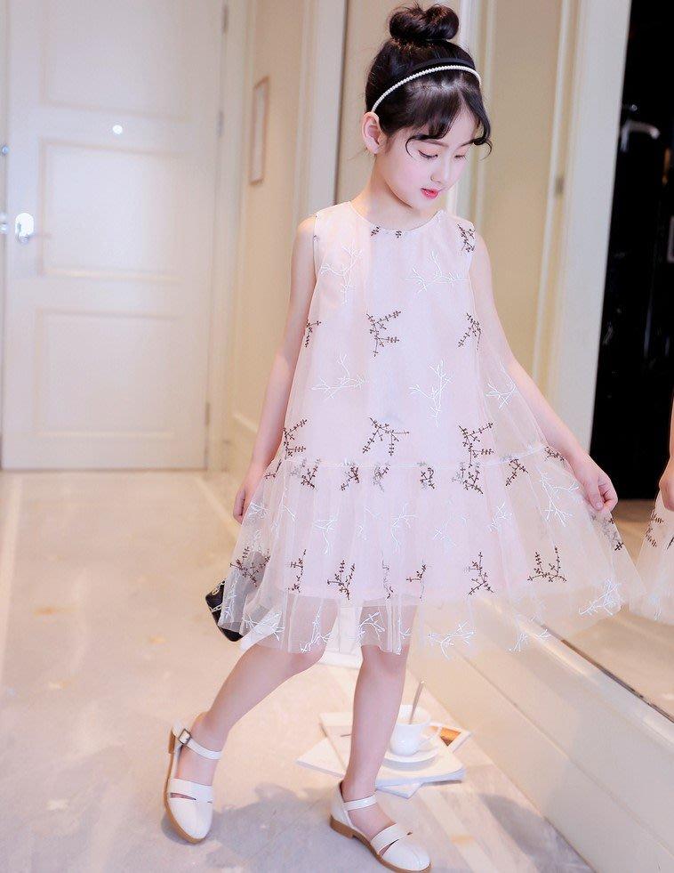 2018新款韓版夏季女童夏裝女大童背心裙中大童公主裙小孩連身裙洋裝