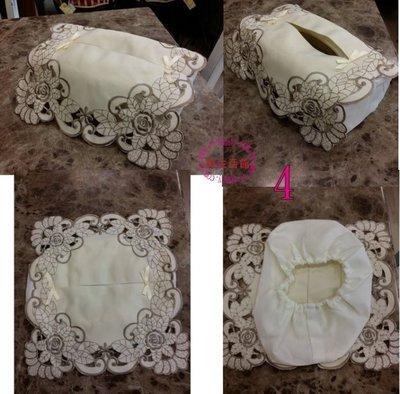OUTLET限量低價出清鄉村 古典 平面刺繡 粉紅玫瑰 面紙套 面紙布盒 店面 新娘 秘書 婚禮 贈品 居家 客廳 餐廳
