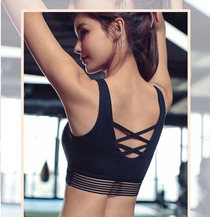 【路依坊】防下垂運動內衣 瑜珈背心 跑步防震 集中運動bra 無鋼圈健身內衣 韻律 慢跑 有胸墊 重訓 A8169