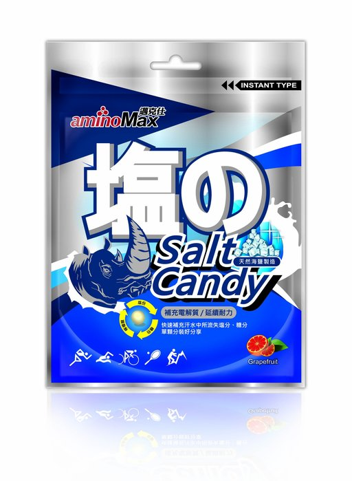 MAX 邁克仕 海鹽軟糖 b群配方、天然海鹽、富含礦物質,葡萄柚薄荷清香,每包15顆,2018/11/18