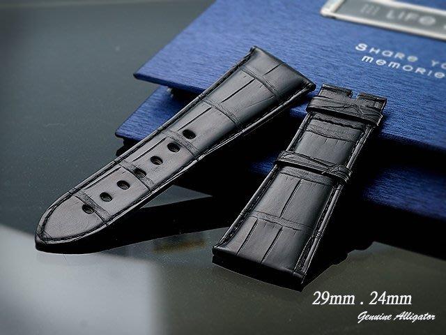 【時間探索】進口純正鱷魚皮-卡地亞 Cartier Tank Divan 沙發 代用進口高級錶帶 29mm.24mm