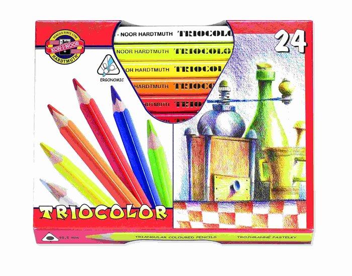 【Artshop美術用品】捷克 KOH-I-NOOR 大三角油性色鉛筆 (24色)