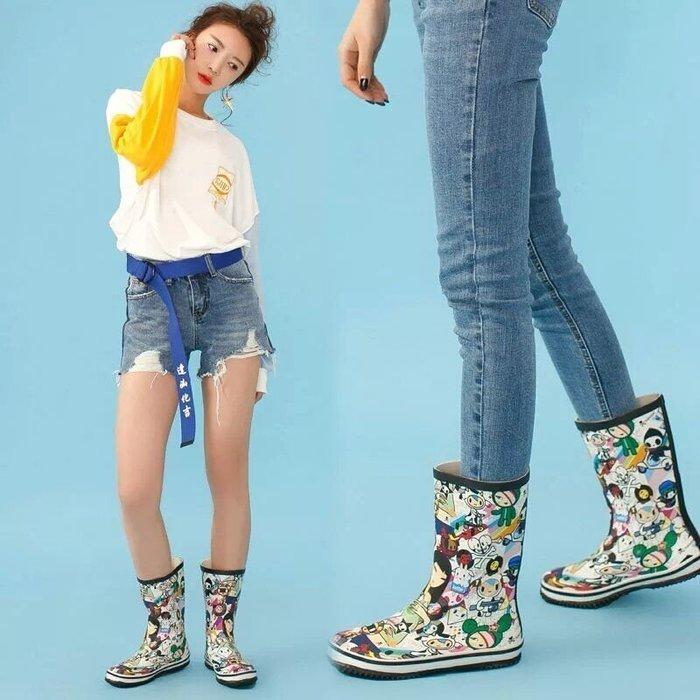 雨鞋 香港 類似 Mont bell 的風格 靴子 童鞋 雨靴 ALL STAR可愛塗鴉風