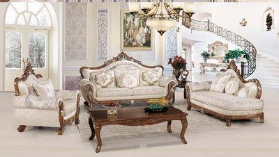 【大熊傢俱】A61 玫瑰系列歐式 歐式沙發 皮沙發  布沙發 絨布沙發 美式皮沙發