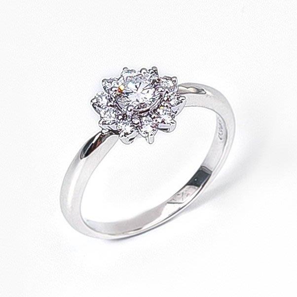 【JHT 金宏總珠寶/GIA鑽石專賣】0.306克拉天然鑽石鑽戒指/材質:PT900/(JB40-A09)