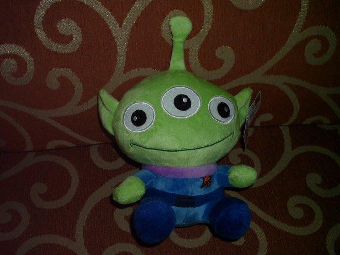 ///可愛娃娃///~7吋正版迪士尼玩具總動員~外星人三眼怪坐姿絨毛娃娃---約23公分