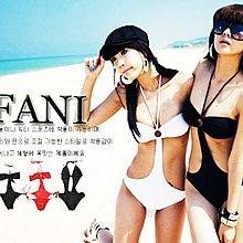 ~方妮FaNi~ ~連身泳裝泳衣比基尼~深V低胸洋裝內衣BIKINI背心裙韓國辣妹海灘沙灘