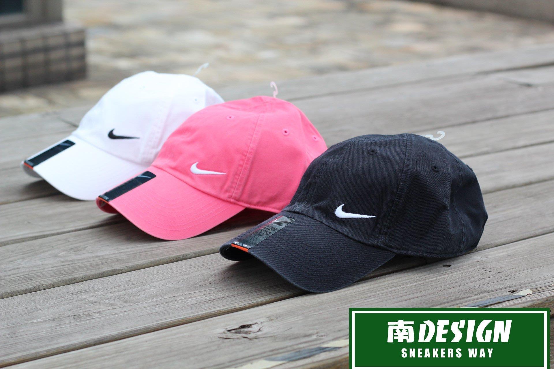 南◇2017 10月 NIKE HERITAGE SWOOSH CAP 粉紅黑白色 老帽 復古帽子 371232-010