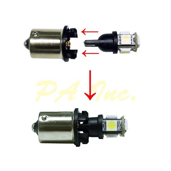 【PA LED】1156 歐規 斜角 平角 轉接 T10 方向燈 轉接座 轉接頭 解決LED方向燈會卡到的問題