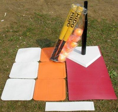 【H.Y SPORT】 HIDO樂樂棒球比賽組 樂樂棒球協會指定品牌 (含重型打擊座+樂樂棒*2+壘包組+10顆球+袋)