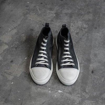【NoComment】美式休閒 質感簡約 真牛皮中統帆布鞋 三色 All star Adidas