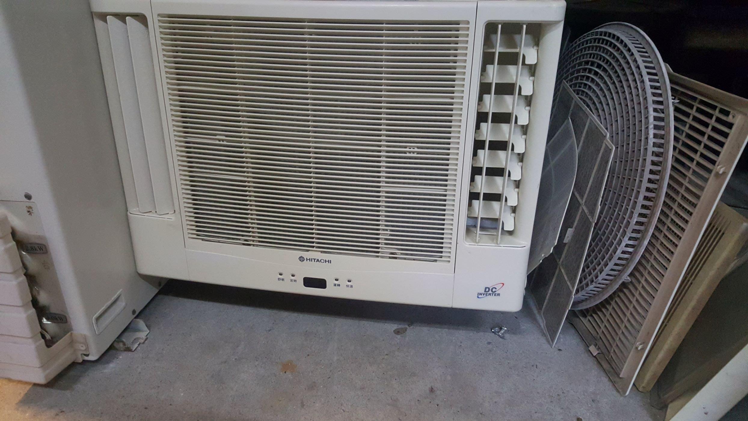 日立1噸半DC變頻冷暖窗型18000含基本安裝保固