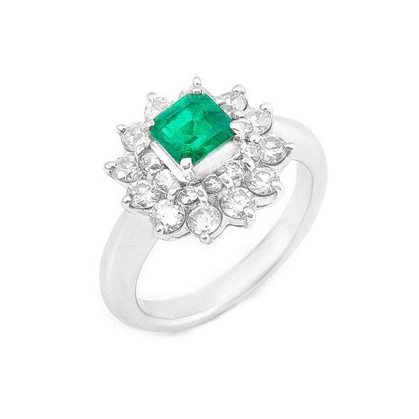 【JHT 金宏總珠寶/GIA鑽石專賣】0.70ct天然祖母綠鑽戒/材質:PT900(E00013)