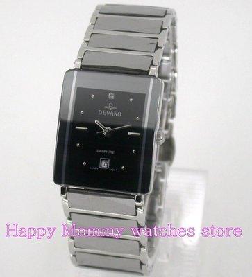【 幸福媽咪 】DEVANO 帝凡諾 公司貨 水晶不刮傷鏡面 鎢鋼男錶 DV-8915AM