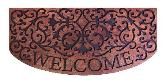 藤蔓Welcome字樣 門前踏墊 55x120cm 戶外踏墊 歐式門墊地墊 長型腳踏墊 刮泥墊 除塵墊 防滑墊 迎賓踏墊